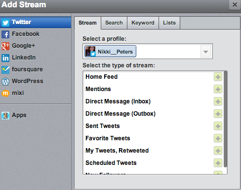 add stream to hootsuite
