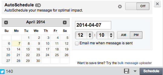 schedule updates using hootsuite
