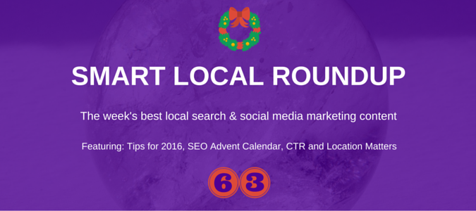 Local SEO news for 11th December 2015